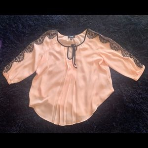 $$Pink Lace, 3/4 button sleeve, Never worn